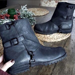 Anthropologie Matiko Leather Combat Booties